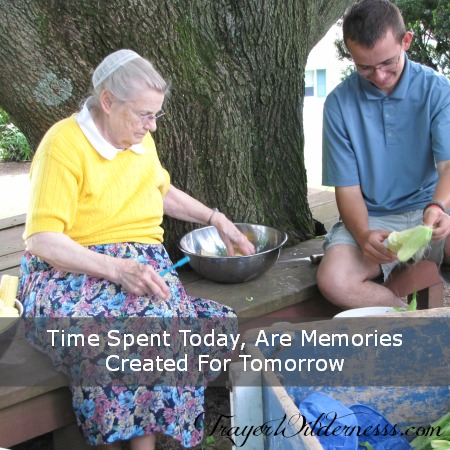 Time Spent Today, Are Memories Created For Tomorrow